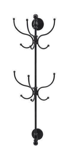 """Features:  Style: -Traditional.  Finish: -Black.  Frame/Rail Material: -Metal. Dimensions:  Overall Height - Top to Bottom: -43.5"""".  Overall Width - Side to Side: -10.75"""".  Overall Depth - Front to Ba"""