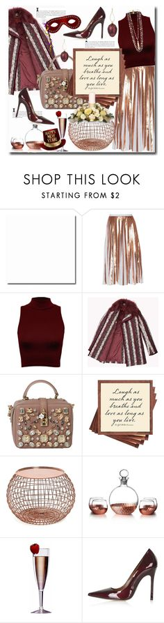"""""""#happy new year 2016"""" by sweta-gupta ❤ liked on Polyvore featuring Raoul, WearAll, Dolce&Gabbana, Ben's Garden, American Atelier, Topshop and Rosantica"""