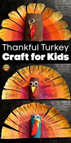 This colourful paper plate Thankful Turkey Craft is a fun and creative way for kids to practice gratitude this Thanksgiving. Fall Arts And Crafts, Easy Fall Crafts, Holiday Crafts, Craft Projects For Kids, Crafts For Kids To Make, Key Projects, Craft Kids, Fall Projects, Thanksgiving Crafts For Toddlers