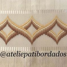 Patricia S. Broderie Bargello, Bargello Needlepoint, Bargello Quilts, Needlepoint Stitches, Needlework, Swedish Embroidery, Hardanger Embroidery, Hand Embroidery Stitches, Ribbon Embroidery