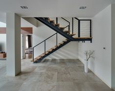Spacious Home with a Warm Interior in Kiev - Design Milk Interior Architecture, Interior And Exterior, Interior Design, Courtyard House Plans, Wooden Steps, Living Room Modern, Living Rooms, Home Decor Styles, Luxury Homes