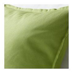 Green IKEA cushion, other option.