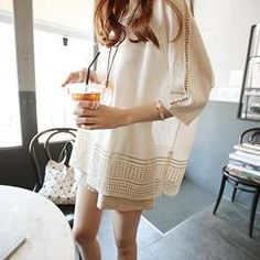 Buy 'DAILY LOOK – 3/4-Sleeve Perforated Knit Top ' with Free International Shipping at YesStyle.com. Browse and shop for thousands of Asian fashion items from South Korea and more!