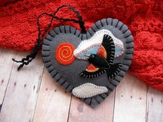 RedWinged Blackbird Ornament by SandhraLee on Etsy