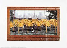 Christo und Jeanne-Claude - The Gates II 1995 Querformat