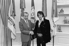 The most demanded photo from the National Archive of the USA. Elvis & Nixon