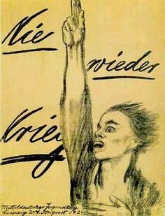 """Käthe Kollwitz, """"Never Again War,"""" Germany, 1924"""