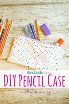 We're all about the fun and charming school supplies! Check out these easy to sew DIY pencil case! There's even a video tutorial!