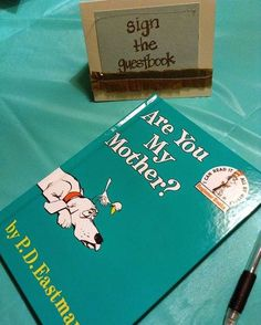 Baby shower dr. Suess theme  #pinterest#diy#babies#babyshower#theme#bird#dog#drsuesstheme#drsuess#boy#newborns#bundlesofjoy#parentstobe#momtobe#guestbook#books