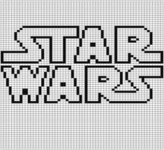 Pattern set number two! These are the gridded patterns I used for my double knit Star Wars blanket. Each pattern is 60 stitches wide and 71 tall and makes one square out of the nine total used in t… Star Wars Crochet, Crochet Stars, Crochet Roses, Crocheted Flowers, Cross Stitch Letters, Cross Stitch Kits, Cross Stitch Charts, Crochet Granny Square Afghan, Square Quilt