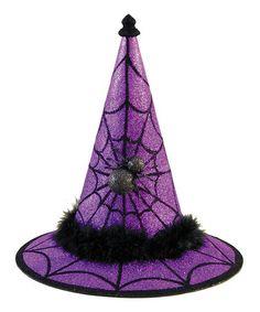 Purple Spider Witch Hat Figurine #zulily #zulilyfinds