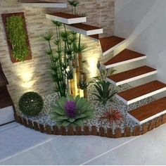 39 Cheap and Easy DIY Garden Ideas Everyone Can Do – sherwooddelapena Home Stairs Design, Home Room Design, Home Interior Design, House Design, Interior Stairs, Interior Livingroom, Exterior Design, House Plants Decor, Plant Decor