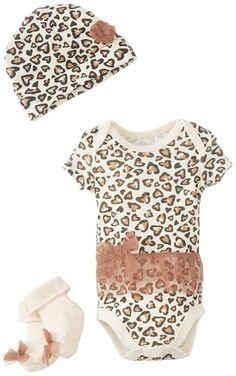 Amazon.com: Vitamins Baby Baby-Girls Newborn Leopard 3 Pack Creeper Set: Baby