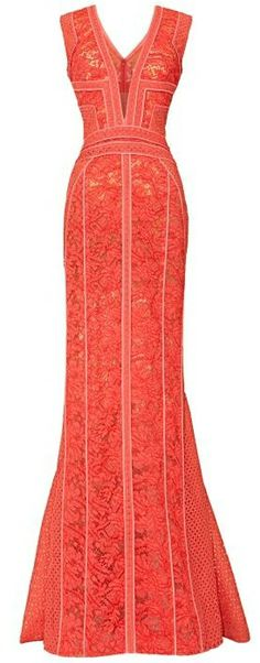 V-Neck Sleeveless Gown by J. Mendel | Spring 2014 |