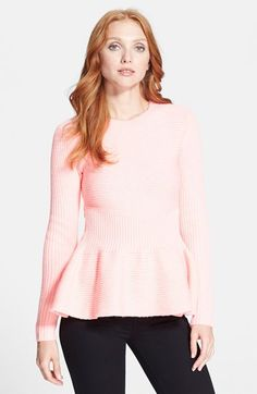 Rib Knit Peplum Sweater //