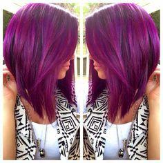 Purple short hair