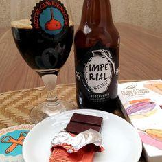 Bodebrown Imperial Stout com chocolate com alto teor de cacau.