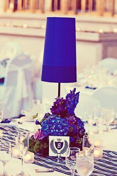 Blue and Purple Wedding Centerpieces | Purple Lamp Centerpieces - Elizabeth Anne Designs: The Wedding Blog