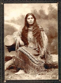 :::::::::: Antique Photograph :::::::::::  Native American Chiricahua woman Elsie Vance Chestuen at Fort Sill.