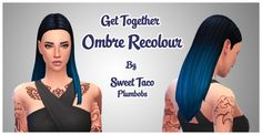 Get Together Ombre Recolours at Sweet Taco Plumbobs via Sims 4 Updates Sims 4 Get Together, Sweet Taco, Sims 4 Mm Cc, Sims Hair, Sims 4 Cas, Sims 4 Cc Finds, Sims 4 Update, Sims 4 Custom Content, Ombre Hair