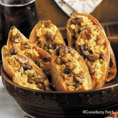 Our Best Tailgating Appetizers: Maple-Topped Sweet Potato Skins from Gooseberry Patch