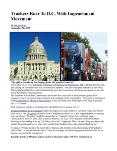 Truckers Roar To D.C. With Impeachment Movement INFOWARS.COM BECAUSE THERE'S A WAR ON FOR YOUR MIND