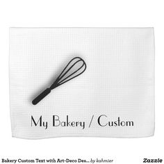 Bakery Custom Text with Art-Deco DesignTowels Hand Towel