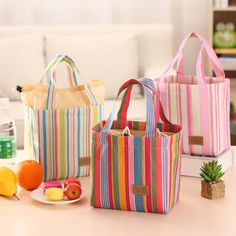 SaicleHome Oxford Waterproof Lunch Tote Bag Cooler Insulated Handbag Zipper Storage Containers Cheap - NewChic Mobile.