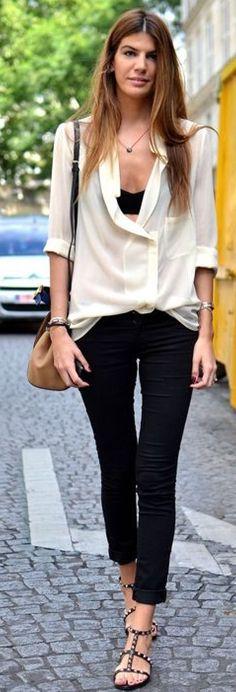 Black straight thru, plus over shirt
