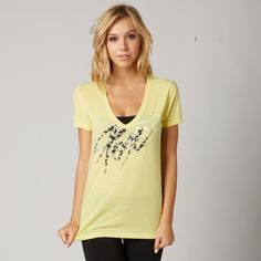 Fox Brushed Vneck Tee