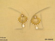 ER-1030-62 | POLO FLOWER PARTY WEAR ETHIC ANTIQUE EARRINGS