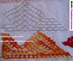 Como Fazer Top Cropped em Crochet /Aula 2 - Claudineia Antunes