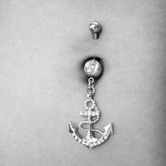 Piercing nombril ancre marine sur Wish.com ♥