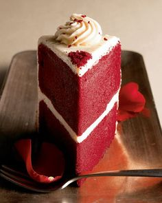 I want a red velvet cake. MAYBE even cupcakes for all in white cake cups with red heart and black dot sprinkles on top. AND I want to make it with my bridal party.