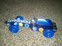 Skylander pinewood derby car.