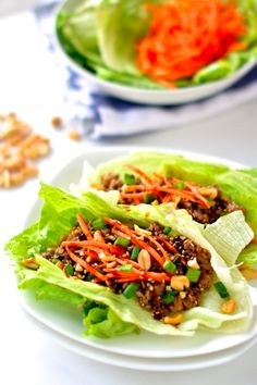 Healthy Asian Lettuce Wraps | 25 Delicious Dinners You Can Make With Ground Beef Or Turkey