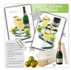 """""""Apple Spiced Mimosas"""" by deeyanago ❤ liked on Polyvore featuring interior, interiors, interior design, home, home decor, interior decorating, holidays and eatdrinkbemerry"""