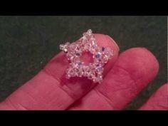 Beading4perfectionists : Tiny Swarovski beaded star tutorial - YouTube