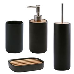 Accessoires salle de bain noir et blanc for Accessoires salle de bain design haut de gamme