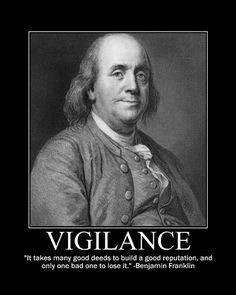 Motivational Posters: Benjamin Franklin on Vigilance