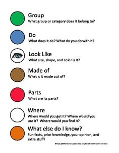 This is intended to be used with the Expanding Expression Tool by Sara Smith.  It can be used as a classroom poster, visual support for individual students, bookmarks, or as a writing activity. Print it in color (Preferably), laminate and use a wipe off marker to complete work pages.