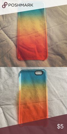 iPhone 6 Cover Rainbow translucent hard plastic cover, never used. getuncommon Accessories Phone Cases