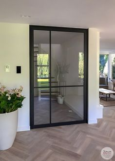 Black Steel Doors With Glass – The Marble Home White Doors, Steel Doors, Cool Rooms, Cozy House, Glass Door, Decoration, Interior Architecture, Interior Design, New Homes