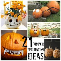 21 Pumpkin Decorating Ideas - now all I need is a contest to enter!