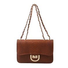 Chain Strap bag Faux Leather Crossbody Bag 5 Colors at doozybag.com