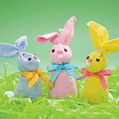 Make Easter Bunny Beanbags Out of Socks | Operation Santa Claus - Santa's Blog