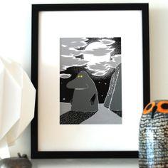 Image of Moomin Print - Groke.