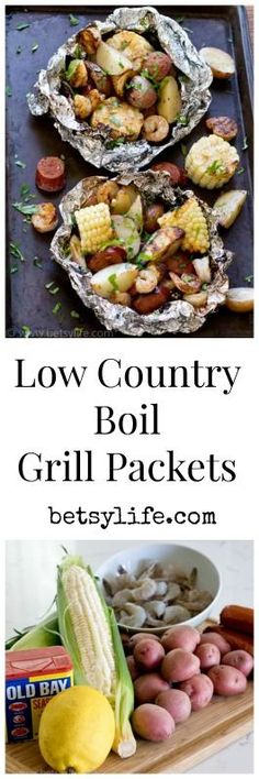 America's national park system turns 100 this year! Celebrate with some delicious outdoor recipes like these Low Country Boil Foil Grill Packets. A great summer dinner on the barbeque.