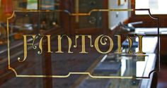 Fantoni - Gold leaf window in art nouveau style, Florence Italy. Photo taken on… Acid Etched Glass, Sandblasted Glass, Old Pub, Letter Form, Typography, Lettering, Gold Gilding, Florence Italy, Glass Etching