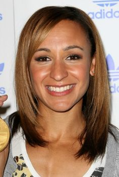 Jessica Ennis: Jess's caramel shoulder length locks could be more luscious than her medal.